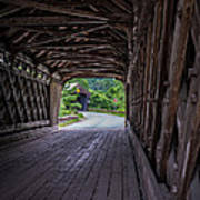 Twin Covered Bridges North Hartland Vermont Poster