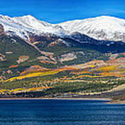 Twin Lakes Colorado Autumn Panorama Poster