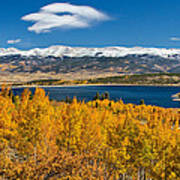 Twin Lakes Colorado Autumn Snow Dusted Mountains Poster by James BO  Insogna