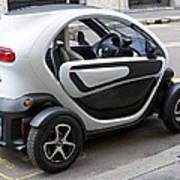 Twizy Rental Electric Car Side And Back Milan Italy Poster