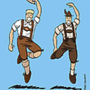 Two Bavarian Lederhosen Men Poster by Frank Ramspott