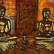 Two Buddhas Poster