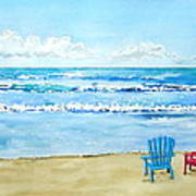 Two Chairs At The Beach Poster