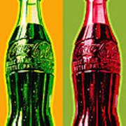 Two Coke Bottles Poster