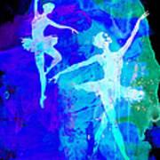 Two Dancing Ballerinas  Poster