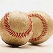 Two Dirty Baseballs Poster by Darren Greenwood