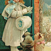 Two Dogs Prepare To Accompany Poster
