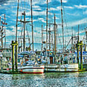 Two Fishing Boats Hdr Poster