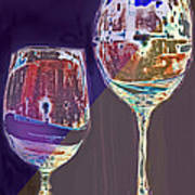 Two Glasses  Poster