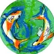 Two Koi Fish Poster