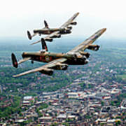 Two Lancasters Over High Wycombe Poster