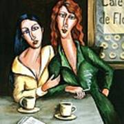 Two Lesbians In A Paris Cafe Poster