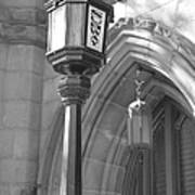 Two Lights And A Church Poster