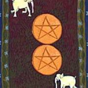 Two Of Pentacles Poster