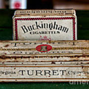 Two Old Cigarette Boxes Poster