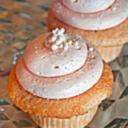 Two Pink Cupcakes Art Prints Poster