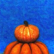 Two Pumpkins Poster