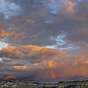 Two Rainbows In Sierra Nevada Poster