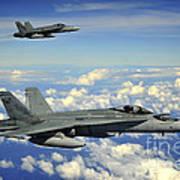 Two Royal Australian Air Force Fa-18 Poster