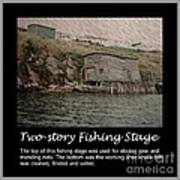 Two-story Fishing Stage Poster
