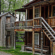 Two Story Outhouse - Nevada City Montana Poster