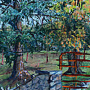 Two Trees And A Gate Poster