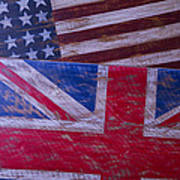 Two Wooden Flags Poster by Garry Gay