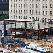 Two Wtc Under Construction Poster