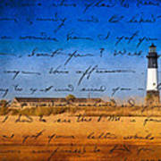 Tybee Island Lighthouse - A Sentimental Journey Poster by Mark E Tisdale