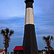 Tybee Light And Palms Poster