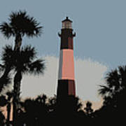 Tybee Light At Dusk Poster