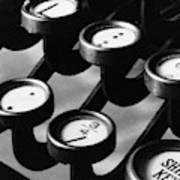 Typewriter Keys, 1921 Poster