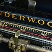 Typewriter Paper Guide Poster
