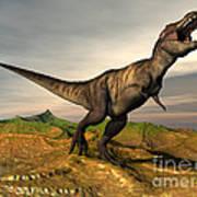 Tyrannosaurus Rex Dinosaur Walking Poster