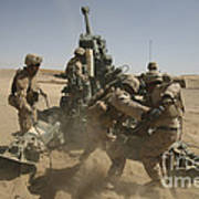 U. S. Marines Ram A Satellite-guided Poster