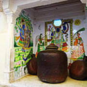 Udaipur City Palace Rajasthan India Queens Kitchen Poster