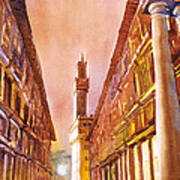 Uffizi- Florence Poster
