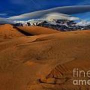 Ufos Over Sand Dunes Poster