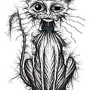 Ugly Cat Poster