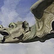 Ulmer Munster Gargoyle Poster by Sam Sidders