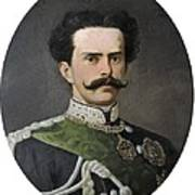 Umberto I Of Italy 1844-1900. King Poster