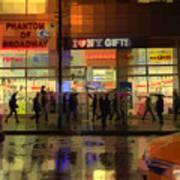 Umbrella Parade - New York In The Rain Poster