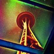 Underneath The Space Needle Poster