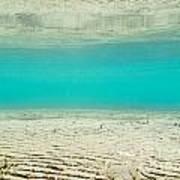 Underwater Sand Beach Poster