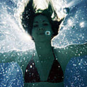 Underwater Self-portrait Poster