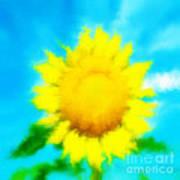 Underwater Sunflower Poster by Lorraine Heath