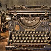 Underwood Typewriter Number 5 Poster by Debra and Dave Vanderlaan
