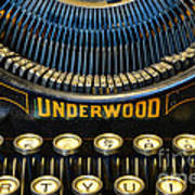 Underwood Typewriter Poster