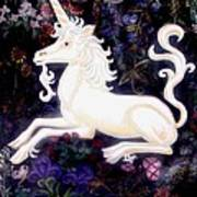 Unicorn Floral Poster