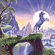 Unicorn Moon Poster